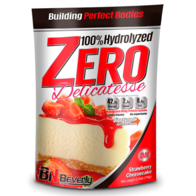 100%  HYDROLYZED WHEY ISOLATE  ZERO  Delicatesse 1kg. - Ягодов чийзкейк